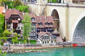 Switzerland, city Bern and river Aare — Stock Photo