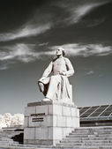 Monument Konstantin Tsiolkovsky. Infra-red photo — Stock Photo
