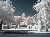 VDNKh. Territory. Infra-red photo — Stock Photo