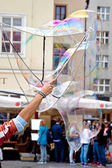 Prague, game with soap bubbles — Fotografia Stock