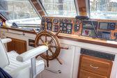Pleasure boat captain's cabin  — Foto Stock