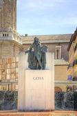 Saragossa. Monument to Francisco Goya  — Stock Photo
