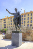 Saragossa. The Roman emperor Caesar Augustus  — Stock Photo