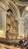 Saragossa. Interior of cathedral of Mother of God Pillar — Foto de Stock