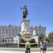 Madrid. Equestrian sculpture of king of Spain Philip II — Stock Photo #50028511