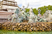Bordeaux. Monument to the Girondins. Date fountain built in 1902 — Стоковое фото