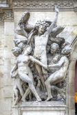 Paris. Sculptures on the facade of the Opera Garnier. Sculptural — Stock Photo