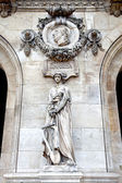 Paris. Sculptures and high reliefs on the facade of Opera Garnie — Stock Photo