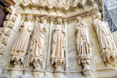 Medieval cathedral in Reims  — Stock Photo