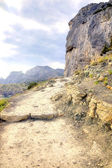 Crimea. Path through mountains  — Stok fotoğraf
