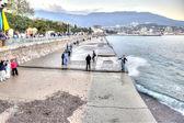 Yalta. Evening. Beach  — Foto de Stock