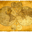 Old paper world map. — Foto Stock #1679823