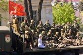 Victory Parade 2013 in Pyatigorsk. — Stock Photo