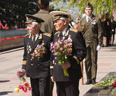 Russian war veterans. — Stock Photo