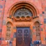 Ornated door of church — Stock Photo #31844543