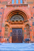 Ornated door of church — Stock Photo