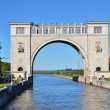 SLUICE GATES ON THE RIVER VOLGA — Stock Photo