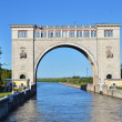 SLUICE GATES ON THE RIVER VOLGA — Stock Photo #12580647