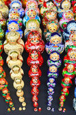 Sets of traditional russian nesting painted doll matryoshka — Stock Photo