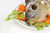 Head of fish as jewish new year symbol — Stock Photo