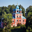 Church in forest in Russia — Stock Photo
