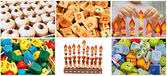Hanukkah jewish collage made from six images — Stock Photo