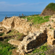 Ruins of Crusaders fortress Apollonia in Israel — Stock Photo