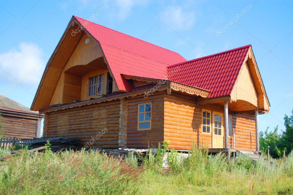 传统俄罗斯农村房子