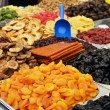 Stock Photo: Market stand of dried fruits
