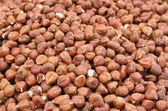 Close up of hazelnut on market stand — Stock Photo