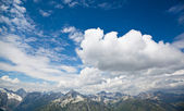 The mountain landscape with beautiful clouds, Dombay, Karachay-C — Stockfoto