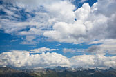 The mountain landscape with beautiful clouds, Dombay, Karachay-C — Zdjęcie stockowe