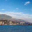 Panorama of Yalta, view from the sea - Stock Photo