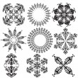 Set of mandalas on a white background (Vector) — Stock Vector