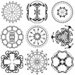 Stock Vector: Set of mandalas on white background (Vector)