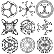 Set of mandalas on a white background (Vector) - Stock Vector