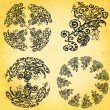 A set of mandal on the old texture - Stock Vector