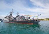 "SEVASTOPOL, UKRAINE -- MAY 2013: A modern warship ""Muromets"" in — Stock fotografie"