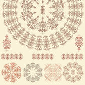 Set of mandalas (Vector) — Stok Vektör