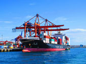 Container ship YM Incremen in port Istambul — Stock Photo