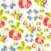 Seamless floral pattern in folk style (Petrykivsky Painting, Ukr — Vector de stock