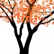Autumn tree — Stock Vector #13403076