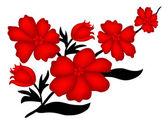 Red flower — Vecteur