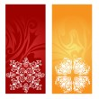 Winter banners set — Stock Vector