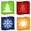 Christmas and new year stickers set — Stock Vector