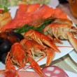 Boiled crayfish - Stock Photo