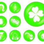 Lucky buttons set — Stock Vector #21554993