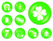 Lucky buttons set — Stock Vector