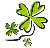 Lucky clovers — Stock Vector