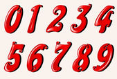 Set of numbers — Stock Vector